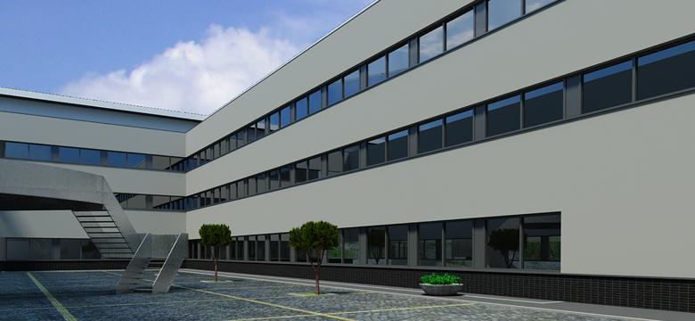 Ziekenhuis Tjongerschans Heerenveen, kleurenstudie gevelrenovatie