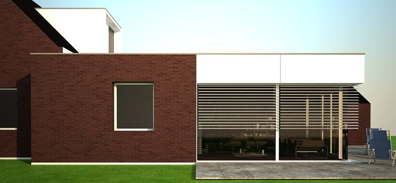 Uitbreiding woning Bergum, architectuur Friesland