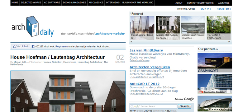 Archdaily, woning Heerenveen