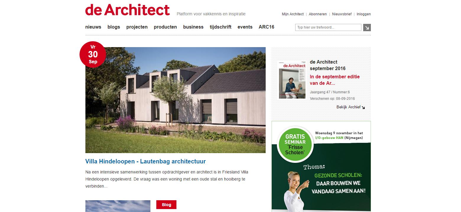 DeArchitect, Villa Hindeloopen