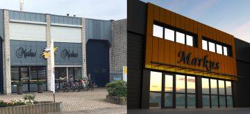 Architectuur kantoren, utiliteit architectuur, gevelrenovatie bedrijfspand