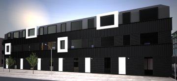 28 appartementen Leeuwarden, architectuurproject friesland