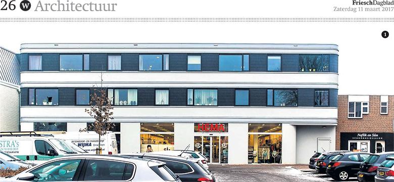 publicatie HEMA Gorredijk Friesch Dagblad, Architectuur Friesland