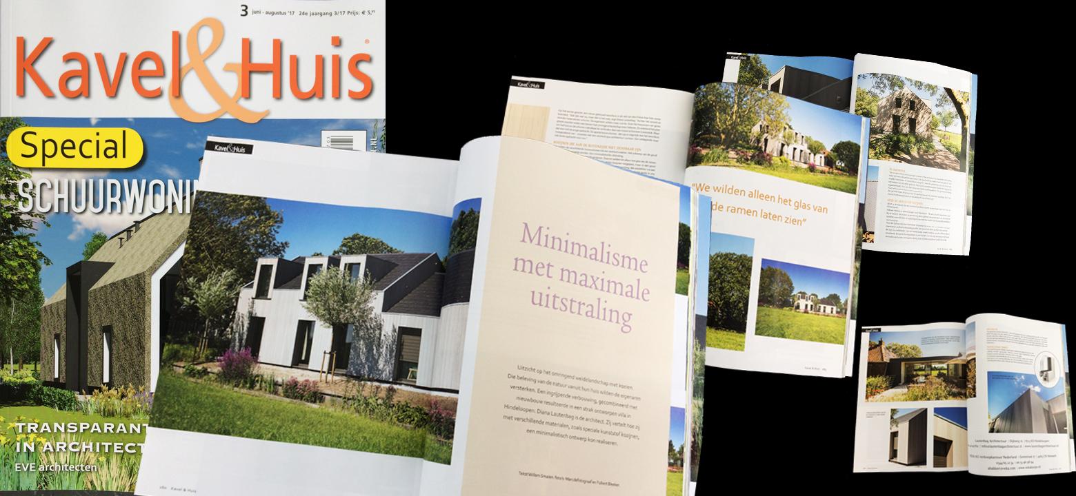Publicatie tijdschrift kavel en huis lautenbag architectuur - Tijdschrift chic huis ...