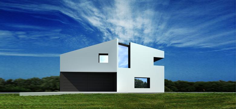 Moderne vrijstaande woning, architectuur Friesland