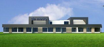 Restyling kantoor Franeker, De Metro bedrijfsverzamelgebouw, architectuur Friesland