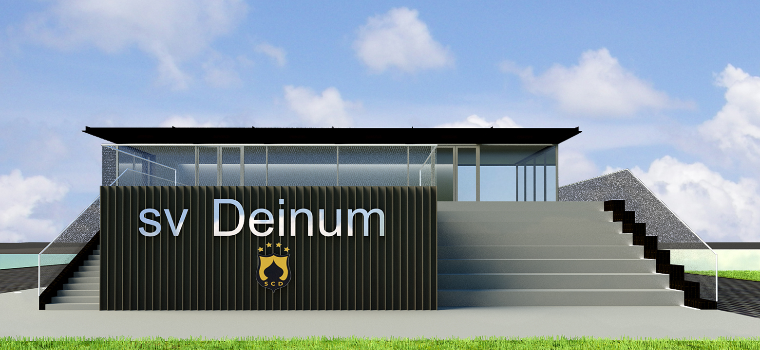 Architectonisch ontwerp sportclubgebouw Deinum